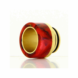 Drip Tip 810er - Epoxy Resin Gold Base - mit O-ring