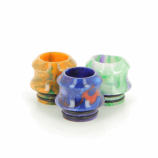 Drip Tip 810er - Epoxy Resin Konkav - mit O-ring Random Color