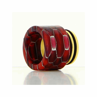 Drip Tip 810er - Epoxy Resin Honey Comb Gold Base - mit O-ring